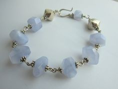 Bracelet - chalcedon and sterling silver