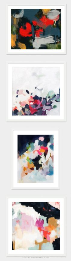 Colorful framed abstract art by Parima Studio