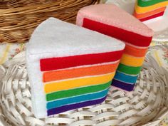 Felt food Rainbow cake by YummySSweets on Etsy