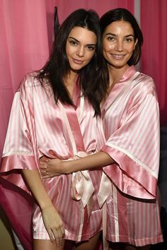 Head backstage at the 2015 Victoria's Secret Fashion Show - Kendall Jenner and Lily Aldridge