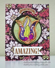 """CTMH Close to My Heart Ivy Lane + A Flowering Bunch """"You Are Amazing"""" card"""