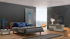 colori a contrasto in camera da letto