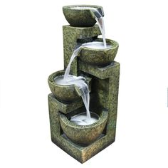 Three Tier Stone Bowl Water Fountain
