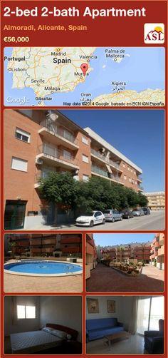 2-bed 2-bath Apartment in Almoradi, Alicante, Spain ►€56,000 #PropertyForSaleInSpain