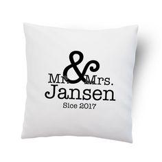 Kussenhoesje 'Mr. & Mrs.' #suededesign