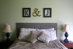 Bedroom Photograph: Couple Bedroom Decorated With Initial Wall ...