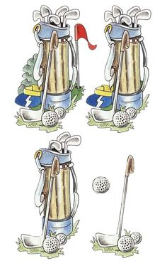decoupage sheets 3d photo: Golf Bag 3D golf2-1.jpg