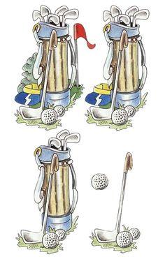decoupage sheets 3d photo: Golf Bag 3D golf2-1.jpg