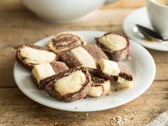 Mürbes Schwarz-Weiß-Gebäck - mit Kakao und Vanille