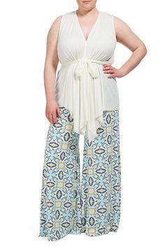 Rachel Pally Official Store, WIDE LEG TROUSER WL PRINT, pristine bandana, White Label : Bottoms : Pants, SU15143WP