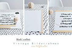 Einfacher Bilderrahmen aus Holzleisten