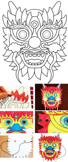DIY de masque de dragon                                                       …