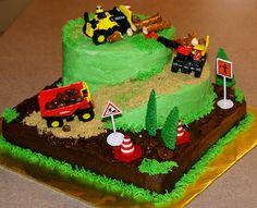 construction birthday cake images