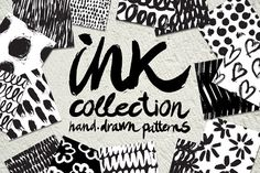 FREE this week - Nov 2, 2015 - Vector collection of ink patterns by Tanya Akhmett on Creative Market