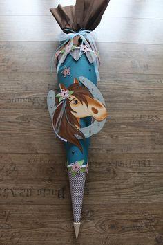 Schultüten - Schultüte Pferd - ein Designerstück von Kopf-Art bei DaWanda