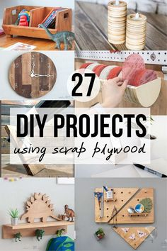 If you are looking for things to do with scrap plywood pieces leftover, here are some impressive and easy scrap plywood project ideas to turn them into useful and functional pieces. #scrapplywood #woodworking #AnikasDIYLife Kreg Jig Projects, Plywood Projects, Scrap Wood Projects, Woodworking Projects That Sell, Diy Woodworking, Furniture Projects, Diy Furniture, Craft Projects, Project Ideas