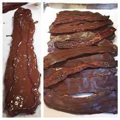 I think this picture says it all. Chocolate Covered Bacon, Bacon Chocolate, Love Chocolate, Chocolate Desserts, Candied Bacon, Dessert Bars, Truffles, Pastries, Salt