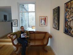 Aleksandar Bašić, Artist, Solo Art Exhibition 2014: The Londoner and The Interview at Paul McPherson Gallery, Greenwich, London, UK Greenwich London, Exhibitions, Interview, Couch, Gallery, Artist, Furniture, Home Decor, Settee
