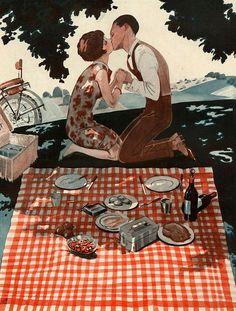 """Ilustração de George Leonnec para a revista """"La Vie Parisienne"""", publicada em outubro de 1928. Veja também: http://semioticas1.blogspot.com.br/2013/09/o-cruzeiro-nos-bastidores.html"""