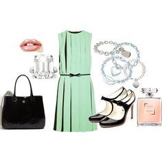 classic feminine look, created by mifflinfarm on Polyvore