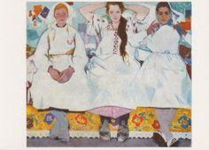 V. Zaretsky Girls Postcard 1971 от RussianSoulVintage на Etsy