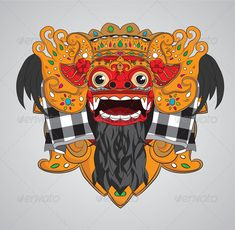Buy Barong Mask by alitsuarnegara on GraphicRiver. Barong mask from Bali Indonesia. ZIP file included : EPS (CMYK vector file = you can use any size you wa. Barong Bali, Coffee Bean Art, Mask Drawing, Indonesian Art, Artwork Images, Vector Art, Eps Vector, Vector File, Asian Art