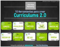 10 herramientas para crear Currículums 2.0. #rrhh #infografia