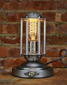 Steampunk Light - The Beacon - Edison Lamp - Metal Table Light - Exceptional Quality - Custom Design -