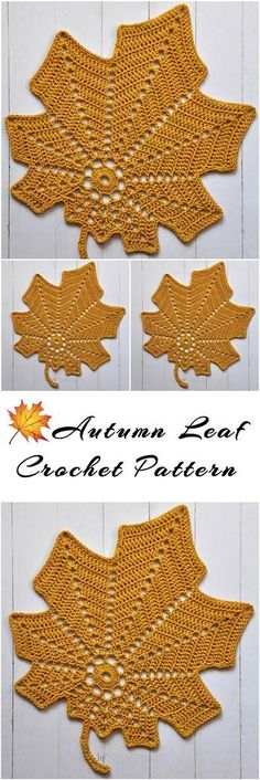 Autumn Leaf Free Crochet Pattern