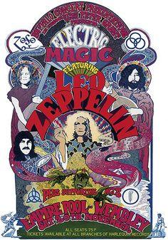 Vintage rock posters and Led Zeppelin Led Zeppelin Poster, Led Zeppelin Concert, Led Zeppelin Art, Led Zeppelin Wallpaper, Psychedelic Rock, Tour Posters, Band Posters, Mundo Hippie, Concert Rock