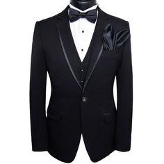 Men Tuxedo, Wedding Suits, Men's Suit 5Pcs, Black