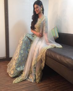 """imouniroy: """"Thank you @payalsinghal for this stunning outfit & @anusoru for the chaandbalis for an special episode of #naagin. Soon on @colorstv  x"""""""