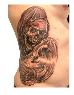 #mistercartoon blackandgrey ink tattoo free hand skull wave ribs tattoo Tattoo Free, Ribs, Skull, Waves, Portrait, Tattoos, Beautiful, Tatuajes, Headshot Photography