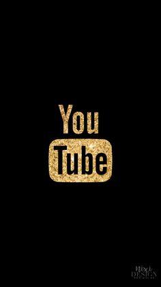 Iphone Logo, Iphone Icon, Logo Youtube, Black And Gold Aesthetic, Gold App, Black App, Apple Icon, Iphone Layout, Neon Logo
