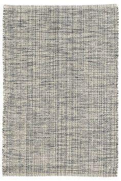 Marled Indigo Woven Cotton Rug