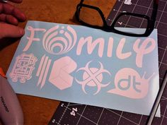 My BassHead Family is a new and customizable decal.    Bass heads are family, and while a lot of people showcase their stick-figure families or animals, there hasn't been a lot of decals created for us bass lovers to showcase our BassDropping family.    In 'My BassHead Family' I'm showcasing a few favs like; Griz, Bassnectar, Skrillex, Pretty Lights, and Snail, you CAN message me and ask for a bit of customization...adding your favorite bands (just a $2.00 customization fee--you can choose…