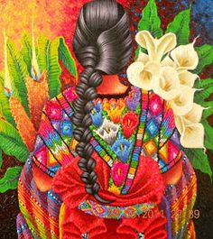 Mexican artwork, mexican paintings, tropical paintings, mexico art, viva me Mexican Artwork, Mexican Paintings, Mexican Folk Art, Tropical Paintings, Guatemalan Art, Latino Art, Mexican Heritage, Mexico Art, Chicano Art