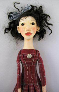 Mod Folk art doll..by Cindy Riccardelli..
