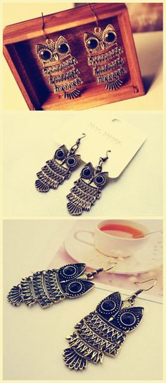 #fashion  Earrings Owl http://www.tinydeal.com/fr/owl-px2280h-p-117543.html