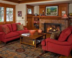 craftsman style living room. A Refined Bungalow in Portland  Craftsman DecorCraftsman StyleCraftsman 15 Warm Living Room Designs living rooms