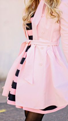 Cute Pink, Pink Love, Pretty In Pink, Pink Fashion, Fashion Beauty, Womens Fashion, Stripes Fashion, Fashion Spring, Fashion News