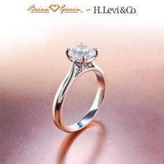 V Prong Thin Shank Engagement Ring Setting for Round Diamonds