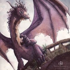 This is probably one of the meanest dragons Ive ever drawn. The part of this picture you cant see is the princess hiding under the bridge. If you want to see the rest or read the stories its available under dragon stories on talesfantastic.com   #watercolor_art #smaugust #dragon #dragonart #children_illustration #fantasyart #fantasyartist #kidlitart #drawnbyme #artistworkout #talesfantastic Mythological Creatures, Mythical Creatures, Fantasy Paintings, Fantasy Art, Dragon Movies, Dragon Sketch, Dragon Art, Art Tutorials, Digital Illustration