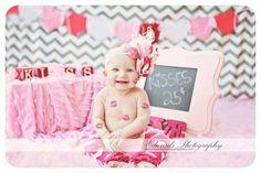 Baby Valentine's Day Photo Idea - Kisses 25 Cents