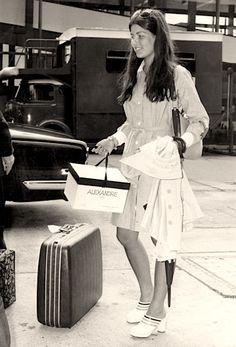 Princess Caroline of Monaco at Heathrow Airport, July 13, 1973