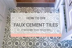 Do you love the bold patterns of cement tiles? Learn how to turn your tile floor into beautiful faux cement tiles that look just like the real thing! It's an easier DIY than you think! via @ahome2growoldin