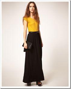 Картинки по запросу с чем носить длинную черную юбку