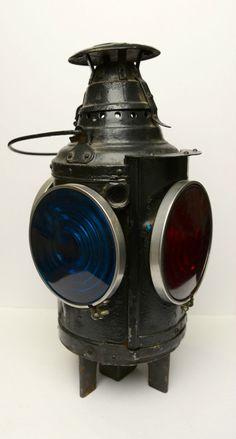 Rail Road Signal Lantern Lamp Arlington NJ Dressel | eBay