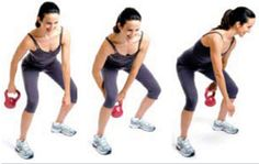 Just when you thought you knew all the kettlebell moves in the book, fitness icon Gin Miller is here to shake up your exercise routine. Check out this kick-butt kettlebell workout that will shape you up from head to toe. Kettlebell Workouts For Women, Kettlebell Routines, Full Body Kettlebell Workout, Fitness Workout For Women, Gym Workouts, Workout Exercises, Fitness Icon, Fitness Tips, Health Fitness
