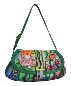Another great find on #zulily! Zebra Garden Ruched Hand-Painted Leather Shoulder Bag #zulilyfinds